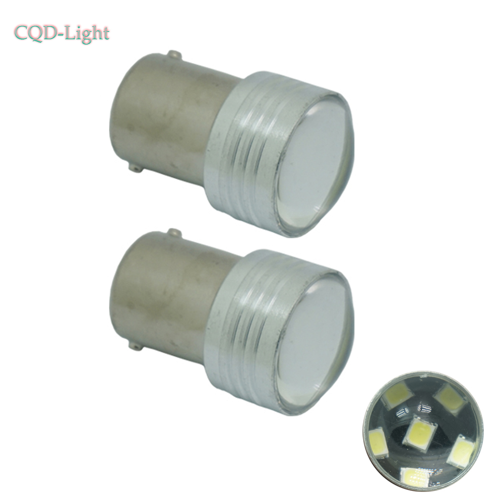 CQD-Light 2X 1157 6smd 2835 BAY15D P21/5W with lens Car Turn Signal Backup brake stop Light
