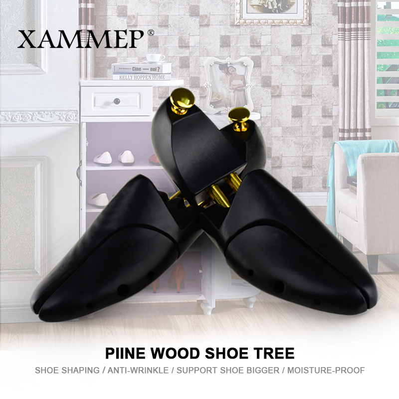 Wooden Shoe Tree For Genuine Leather Shoe Women shoes Men Shoes Sneakers Stretcher Shaper Keeper 1 Pair Adjustable Width Xammep 2 pieces new arrival solid pine shoe tree adjustable men and women shoe stretcher 2 way wooden shoes shaper adjustable tree