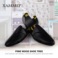 Wooden Shoe Tree For Genuine Leather Shoe Women shoes Men Shoes Sneakers Stretcher Shaper Keeper 1 Pair Adjustable Width Xammep