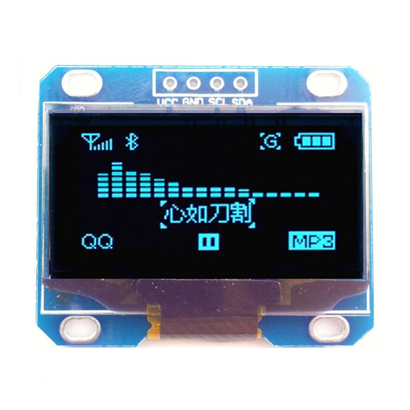 <font><b>1.3</b></font> <font><b>inch</b></font> IIC I2C Serial Blue <font><b>OLED</b></font> Display Module 12864 LCD Screen Board 128X64 image