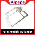 Для Mitsubishi Outlander 2015 2016 2017 2018 Автомобильная навигационная панель декоративная рамка  обшивка  накладка ABS пластиковые аксессуары