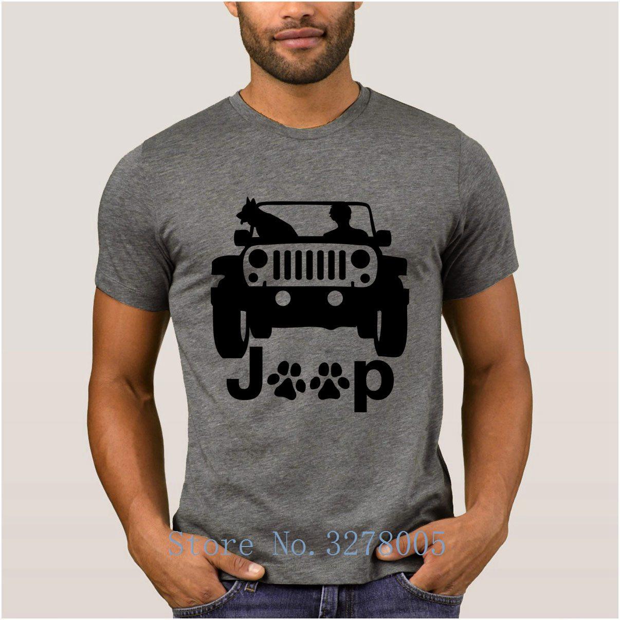 Brand La Maxpa Humor Jeep Canine And Dog   T     Shirt   2018 Regular   T  -  Shirt   For Men Streetwear Crew Neck Men's Tshirt Cheap Sale