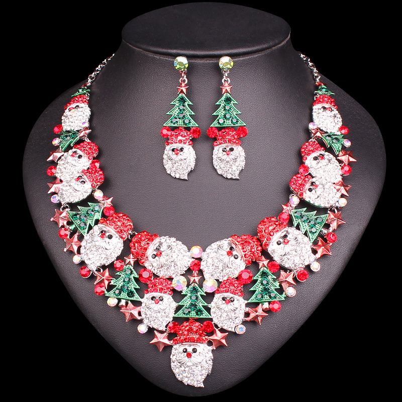 Gorgeous Christmas Tree Necklace Earrings Sets Jewelry Sets Christmas Party Costume  Jewellery Accessories Xmas Gifts for 6e122b8253e4