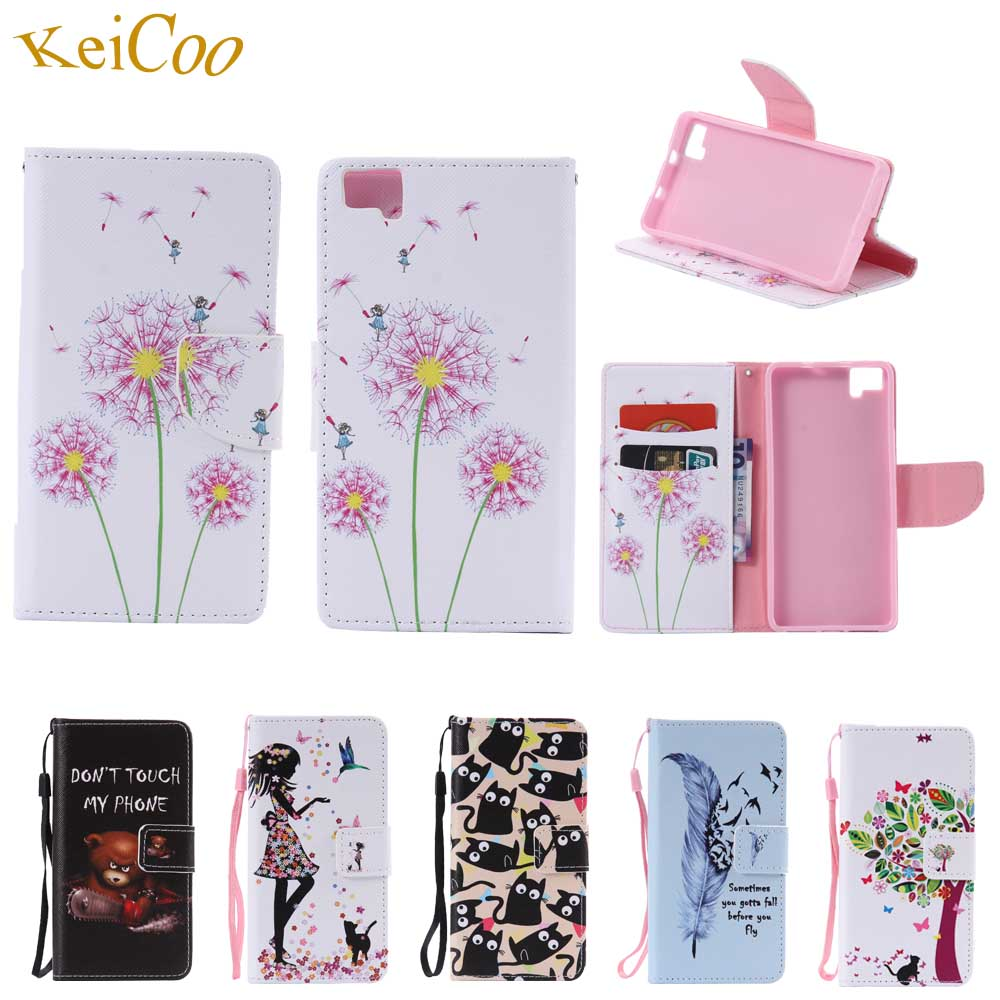 Flower Pattern Cases For BQ Aquaris M5 4G LTE Dual SIM 5.0 inch Book Flip Wallet Movie Stand Covers For BQ M5 Card Slots Cases
