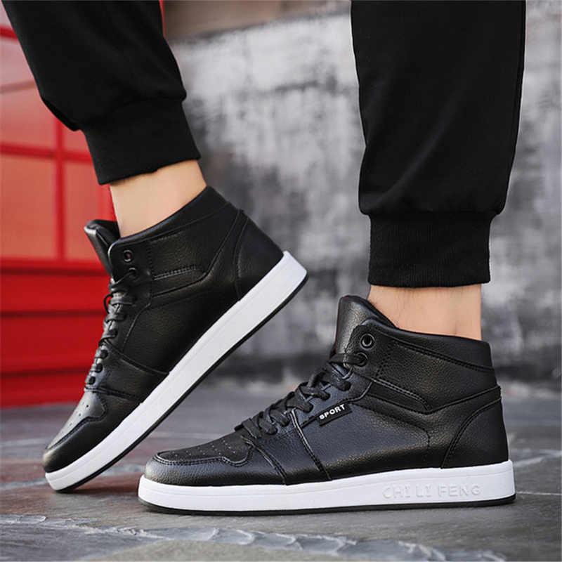 Mode Neue Trend der Männer Schuhe Schwarz Bord Schuhe Air Force Hüfte Hop Turnschuhe High Top Vulkanisieren Turnschuhe Outdoor Zapatillas schuhe