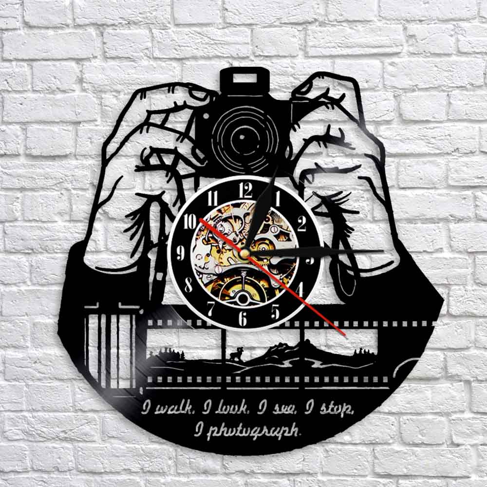 1Piece Photography Decor Cameraman Wall Clock