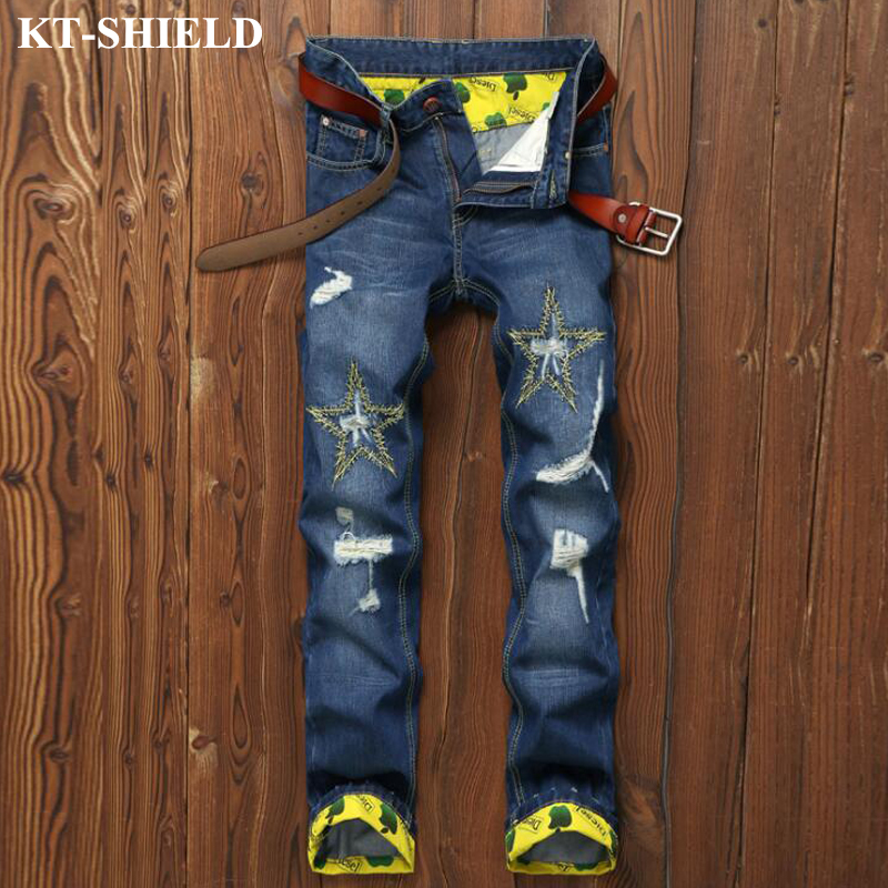 Skinny Jeans Men Slim fit Straight Mens Denim Pants Brand Designer Fashion Full Length Jeans Men
