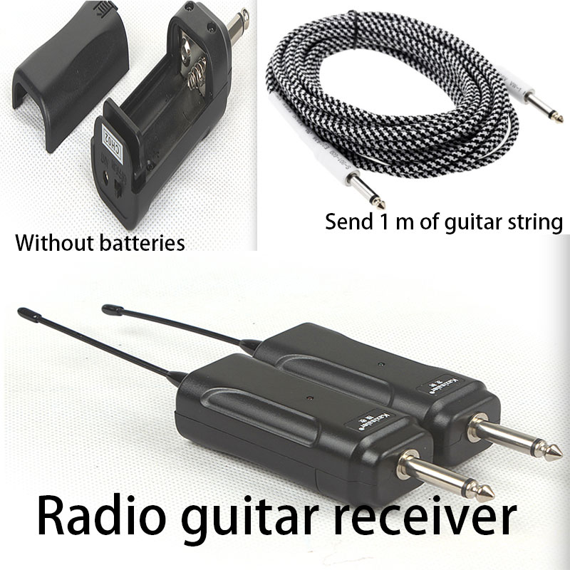 Wireless instrument microphone electric guitar bass violin electric torch pick-up transmitter plug receiving 50 meters handmade new solid maple wood brown acoustic violin violino 4 4 electric violin case bow included