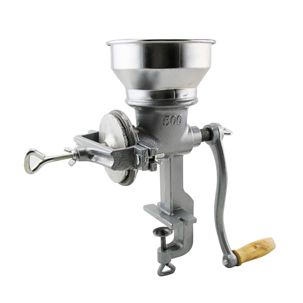 Manual Grain Grinder Hand Crank Cast Iron Table Clamp Corn Coffee Food Wheat Mill|Manual Coffee Grinders| |  - title=