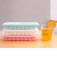 16 полости льда Куб лоток коробка с крышкой крышка напиток желе морозильник плесень производитель