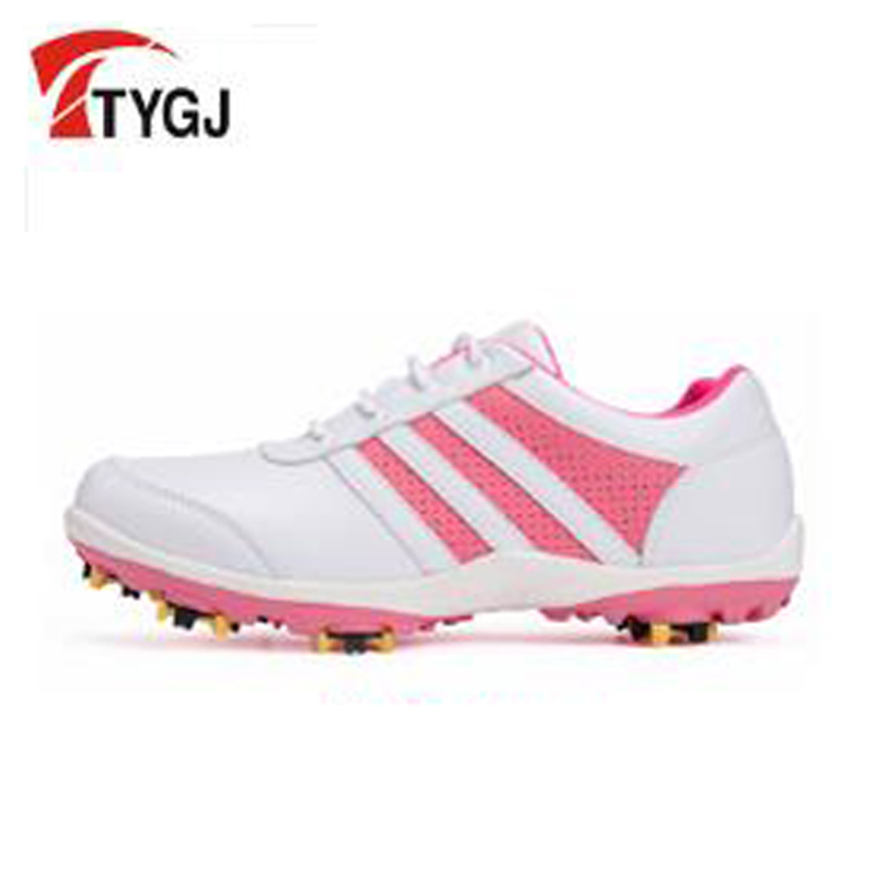 TTYGJ Womens golf shoes Leather Golf shoes slip resistant sports shoes Waterproof golf shoes zw