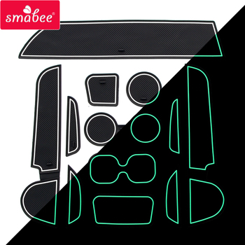 smabee Gate slot pad For For MITSUBISHI attrage 2012-2015 Interior Door Pad/Cup Non-slip mats 12pcs image