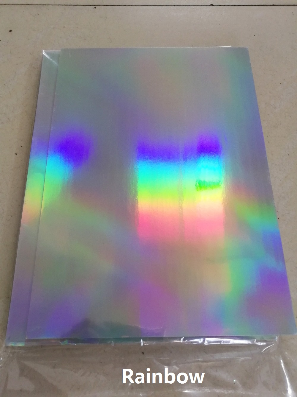 10pcs A4 Holographic Rainbow Glossy Mirror Self Adhesive Vinyl Film Label Sticker For Scrapbooking Paper Craft