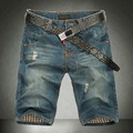 Hot plus size 40 2016 Men's Jeans Shorts,Mens Short Jeans,Fashion Famous Brand Denim Shorts Men, cotton Straight jeans