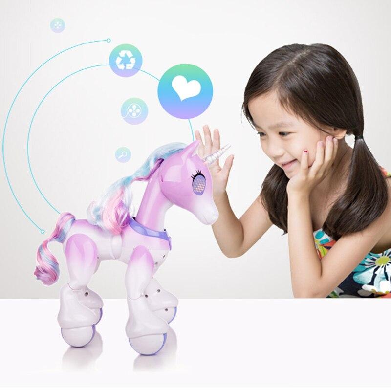 Nouveau Robot Tactile Électrique Cheval Intelligent Télécommande Licorne Enfants/de Induction Électronique Pet Jouet Éducatif Pour Enfants Cadeau
