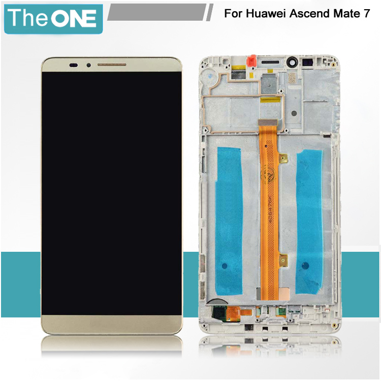 6.0 Lcd Display+digitizer Touch Screen With Frame For Huawei Ascend Mate 7 Mt7 White/black/gold Free Shipping