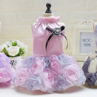 Flower Pet Dog Wedding Dress For Dog Skirt Princess Lace Tutu Puppy Clothing For Chihuahua Yorkies