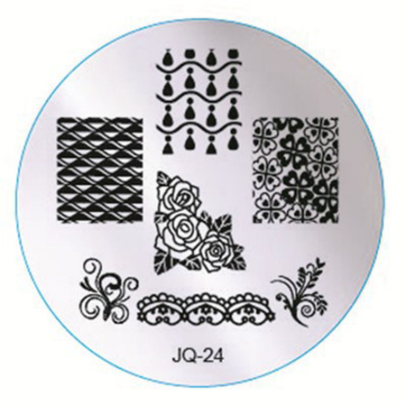 1pc Many Style Nail Art Stamping Plates, Lace Flower Image For ...