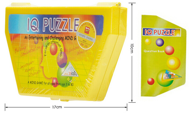 Logic Puzzle IQ Kids Mind Brain teaser Beads Puzzles Game Toys  for Children Adults 1 Manual 180 Challenges