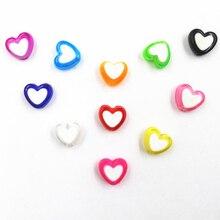 Fashion 150 Piece/Lot Handmade/DIY Heart Beads Acrylic For Jewelry Free Shipping Gift High Quality