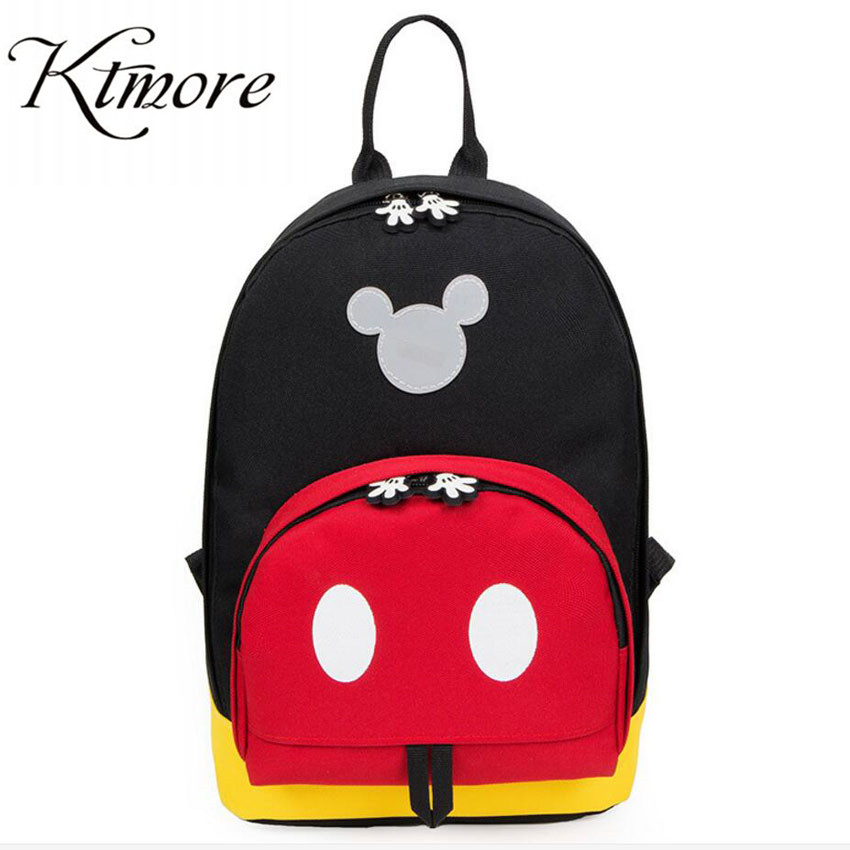 2019 New Mickey Canvas Shoulder Backpack Student Casual Bags Kids Travel Bags Mochila Feminina Bag Small Backpacks