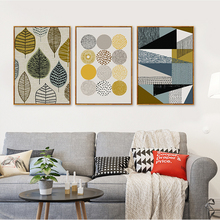 Abstract Geometric Canvas Paintings Nordic Scandinavian Posters Prints Wall Art Oil Pictures for Living Room Home Decor Unframed