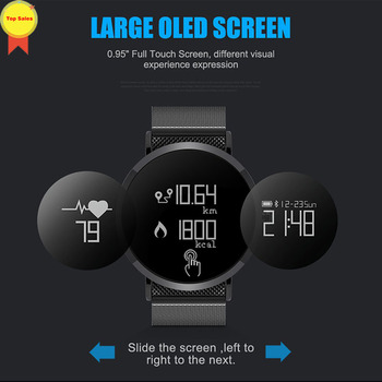 IP67 waterproof smart watch bluetooth band heart rate blood pressure monitor 0.95 OLED long time standby sport men fashion watch