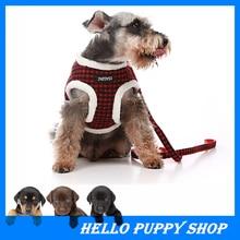 Comfort Soft Breathable Dog Harness Pet Vest Rope Dog Chest Strap Leash Set Collar Leads Harness Adjustable