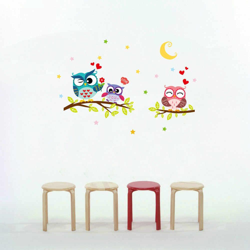 43 cm * 63 cm Di Động Chống Thấm Nước Động Vật Phim Hoạt Hình Owl Tường Sticker Cho Trẻ Em Phòng PVC Hình Nền cho Nội Thất Phòng Decor trang Trí