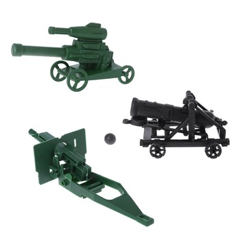 Military Cannon Gun Model Soldier Army Plastic Children Kids Boy Educational Toy image