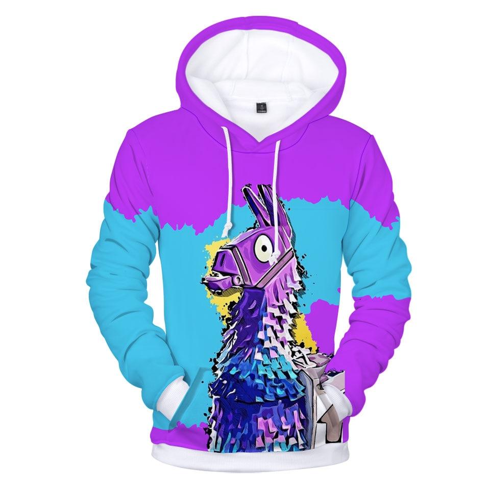 2018 batalla sudaderas con capucha 3D Popular juego sudaderas con capucha de los hombres Arco Iris Smash Pony caballo impreso Sudadera con capucha niños Casual Streetwear