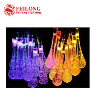 Premium Quality 6m 30 LED Solar Christmas Lights 8 Modes Waterproof Water Drop Solar Fairy String