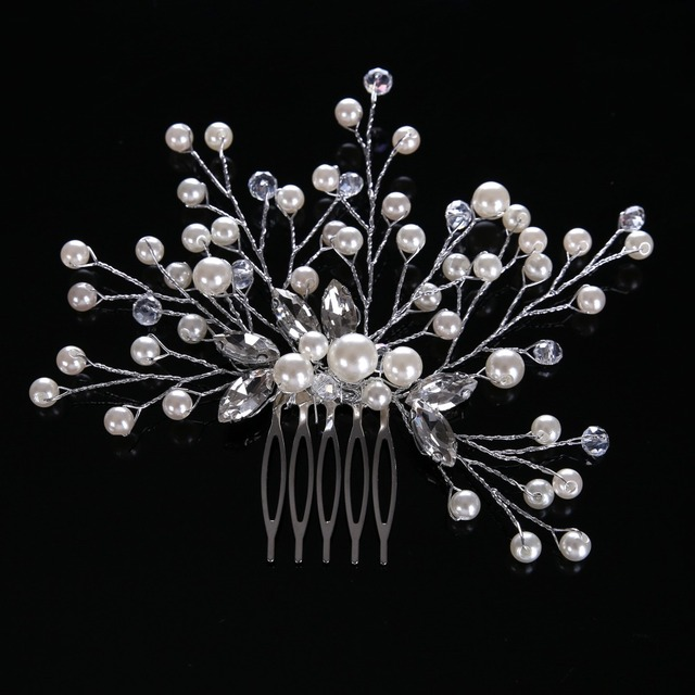 Newest Luxury Temperament Crystal Hair Comb For Women Hair Jewelry