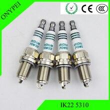 4 pcs High Quality IK225310 Iridium Power Spark Plug IK22 5310 For Ford Audi Honda Nissan Volvo IK22-5310