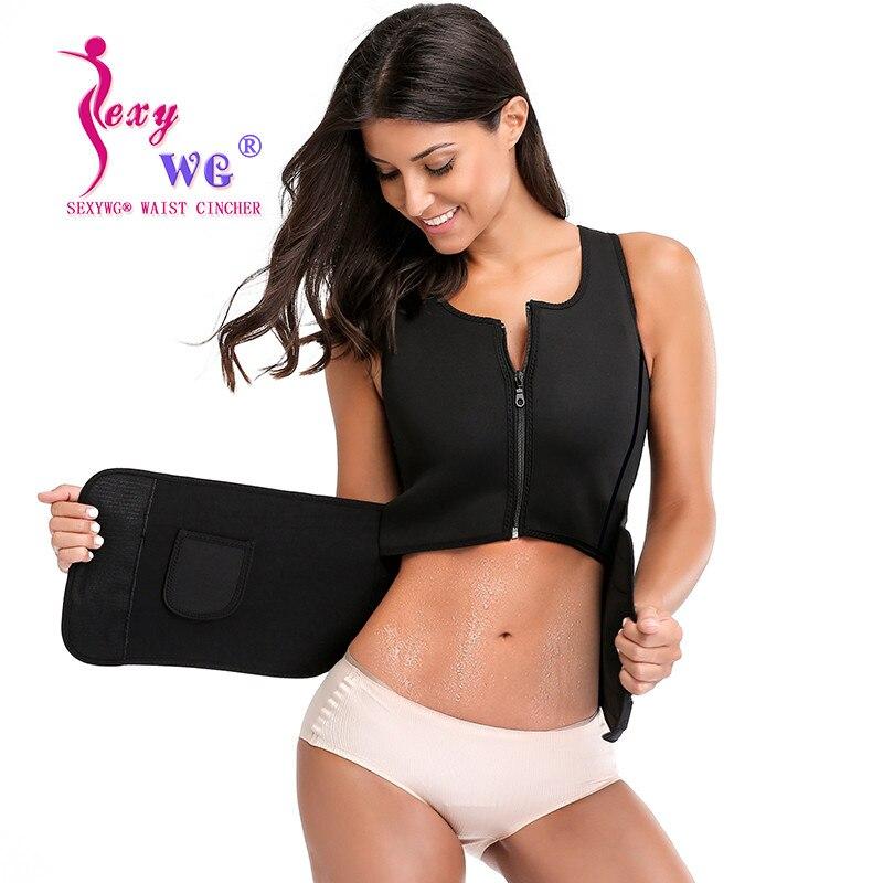 41ca61f205 Detail Feedback Questions about SEXYWG Sportwear Women Yoga Shirt Hot Sweat  Sauna Suit Neoprene Waist Trainer Body Shaper Slimming Sport Tank Top  Blouse ...