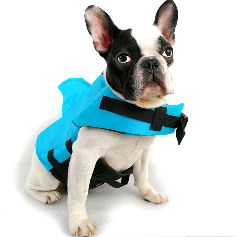 bulldog life vest shark pet dog life jacket pet safety clothes for dogs pet 4891