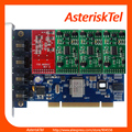 Asterisk Card TDM400P with 1 FXO+3 FXS modules,Quad Span Analog Card