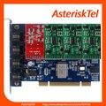 TDM400P Asterisk Карты с 1 FXO + 3 FXS модули, Quad Span Аналоговых Карт