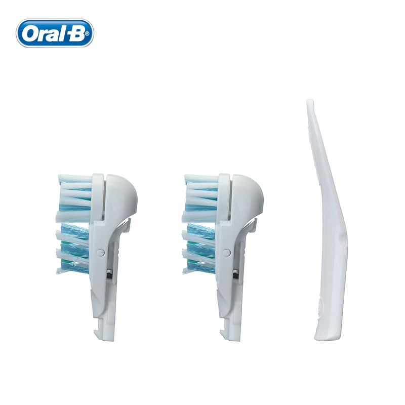 Oral B Cross Action Electric Toothbrush Head Dual Clean Compatible Replacement Toothbrush Heads for Deep Clean 2 Heads/Pack image