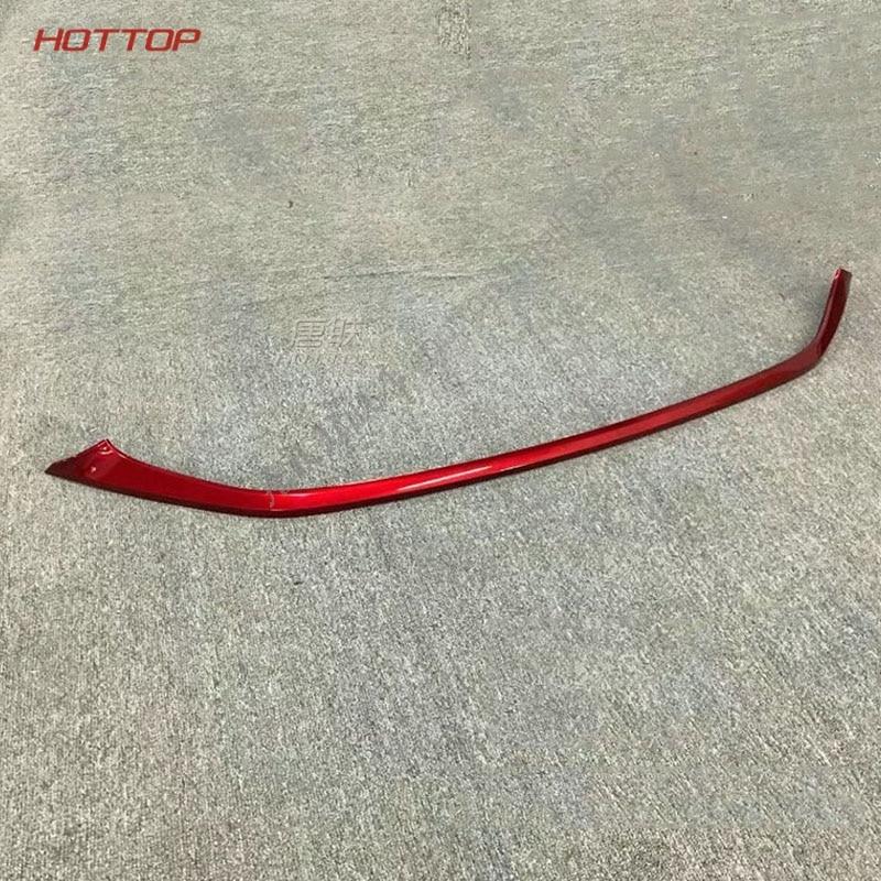 1 PCS Carbone Texture Chrome Avant R Pare-chocs Garniture Couvercle Moulé POUR Toyota C-HR CHR C HR 2016 2017 2018 Accessoires Car Styling rouge