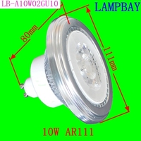 10 Pack Free Shipping LED AR111 Lamp COB 10W GU10 85 265V 1000Lm Replace To