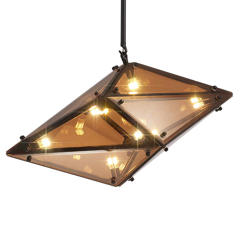 Creative modern led pendant light diamond grey amber for Fixture exterieur led