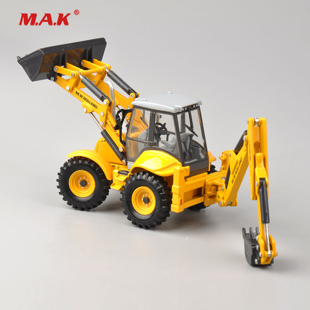 Collection Diecast 1/50 Scale New Holland Terna LB115B Engineering Vehicles Truck Model Dual Use Bulldozer Excavator Model