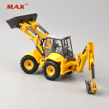 collection diecast 1/50 scale New Holland Terna LB115B engineering vehicles truck model dual use bulldozer excavator