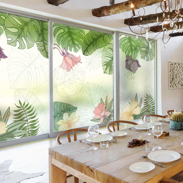 Custom Static Cling Window Film Frosted Opaque Privacy
