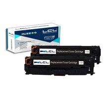LCL 312X 312A CF380X CF380A 4400 Pages (2-Pack Noir) Cartouche de toner Compatible pour HP Color LaserJet Pro M476dn MFP/M476dw MFP