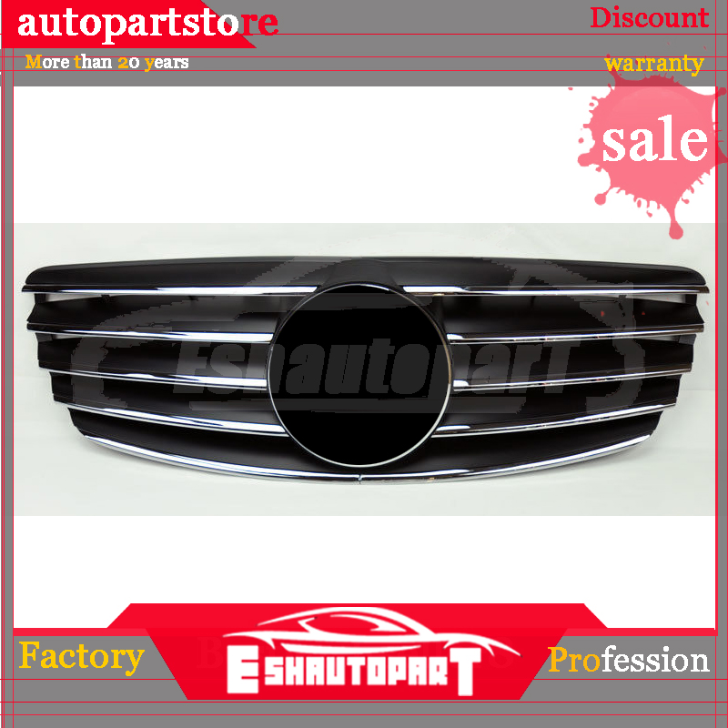 Replacement Front Center Grille in Black Style For Mercedes Benz E Class W211 (03 06)|Racing Grills| |  -