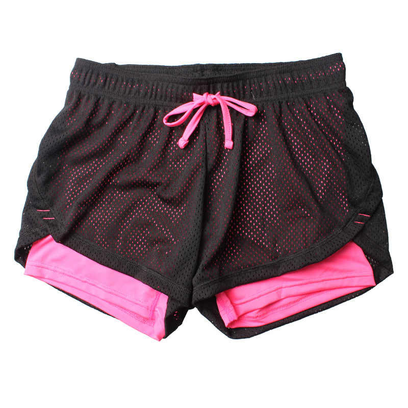 2f51a6b14e ... HTLD verano doble capa pantalones cortos de las mujeres delgadas Fitness  Shorts mujer elástica pantalones cortos ...