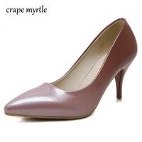 Туфли на низком каблуке Женская высокая обувь на каблуке пикантные розовые каблуке Острый носок туфли-лодочки свадебные туфли Для женщин н...