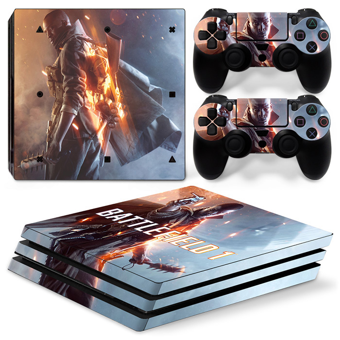Gaming Accessories Waterproof Anti Dust for Playstation 4 Pro Console Vinyl PVC Skin Sticker for PS4 pro